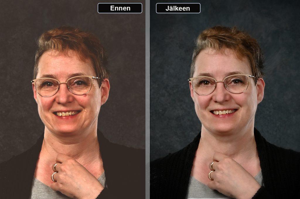 Mallikuva -Valokuvaaja - retusointi 4